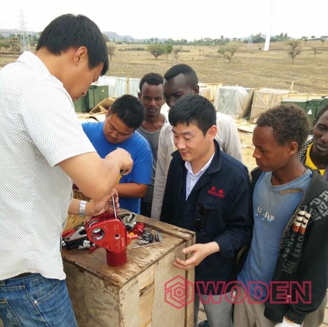 赢咖4技术人员在非洲埃塞尔比亚进行售后服务
